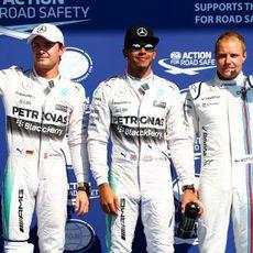 Hamilton, Rosberg y Bottas vuelan en Spa