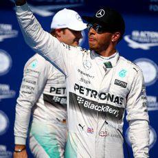 Lewis Hamilton suma su sexta pole consecutiva