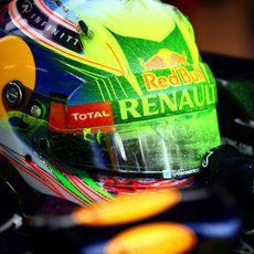 Parafina en el casco de Daniel Ricciardo
