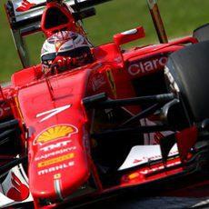 Kimi Räikkönen en su carrera de casa
