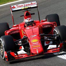 Kimi Räikkönen no estuvo del todo contento con su conducción