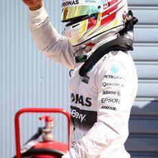 Séptima pole consecutiva para Lewis Hamilton