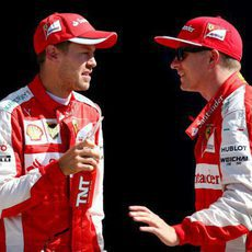 Gran actuación de Kimi Räikkönen y Sebastian Vettel