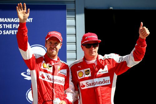 Ovaciones para Kimi Räikkönen y Sebastian Vettel