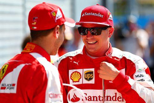 Un sonriente Kimi Räikkönen acaba segundo el sábado