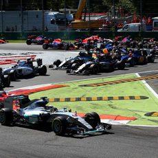 Primera chicane del GP de Italia 2015