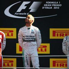 Podio del GP de Italia 2015
