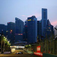 Felipe Massa pilotando en Singapur