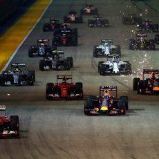 Salida del GP de Singapur 2015