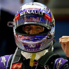Alegría enorme de Daniel Ricciardo al alcanzar el podio