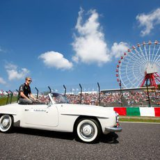 Nico Hulkenberg en el drivers' parade