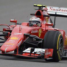 Kimi Raikkonen rodando en los L1