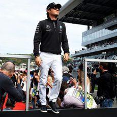 Nico Rosberg sube al camión en Sochi