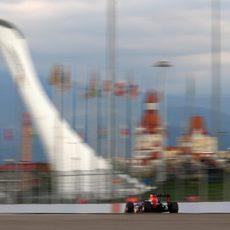 Daniel Ricciardo en la pista del GP de Rusia