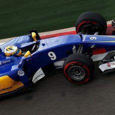 Marcus Ericsson no pudo hacer nada por no caer en la Q1