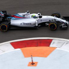 Felipe Massa durante su stint con el compuesto blando