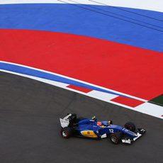Felipe Nasr monta el superblando para el final de la carrera