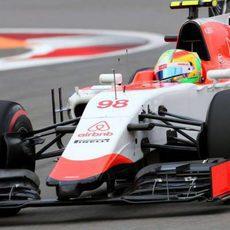 Roberto Merhi tenía una gran actuación en su vuelta al coche