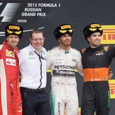 Podio del Gran Premio de Rusia