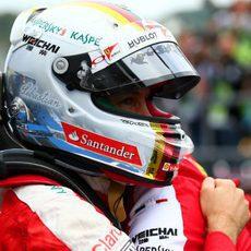 Sebastian Vettel emocionado por su segunda posición