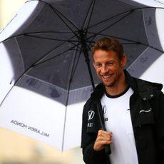 Paraguas para Jenson Button en las Américas