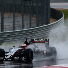 Nico Hülkenberg aprovechó la sesión para marcar un tiempo competitivo