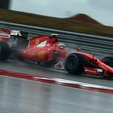 Kimi Raikkonen clasifica en 8ª posición