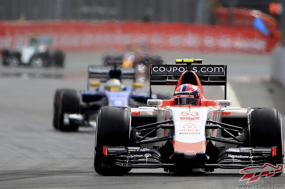 Alexander Rossi rueda en la clasificación del GP de México 2015