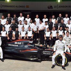 Foto oficial del equipo McLaren-Honda en Interlagos