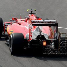 Kimi Raikkonen realizando evaluaciones aerodinámicas