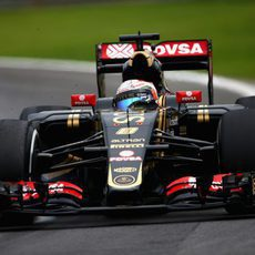 Romain Grosjean pasandose de frenada