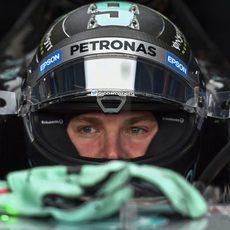 Nico Rosberg concentrado