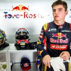 Max Verstappen durante los libres en el GP de Interlagos