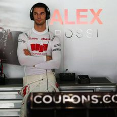 Alexander Rossi esperando que comience la clasificación