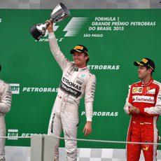 Podio del GP de Brasil 2015
