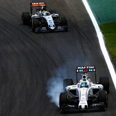 Sergio Pérez en la carrera de Interlagos