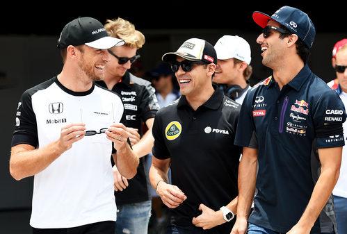 Jenson Button tras la carrera de Interlagos