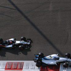 Valtteri Bottas y Nico Hülkenberg durante los L3