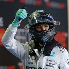 Nico Rosberg feliz con su pole position