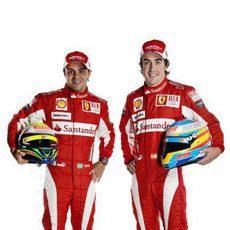 Massa y Alonso con su nueva equipación