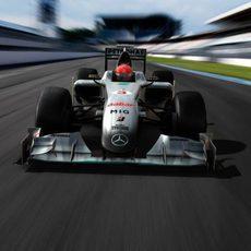 Recreación del monoplaza de 'Mercedes GP Petronas'