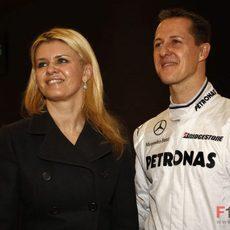 Schumacher y su mujer Corina