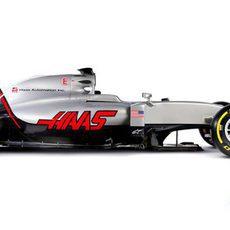 Haas VF16 visión lateral