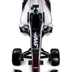 Haas VF16 visión cenital