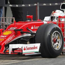 Ferrari se disponía recoger datos aerodinámicos de su nuevo monoplaza