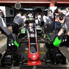 Intenso trabajo para el equipo Haas en su debut