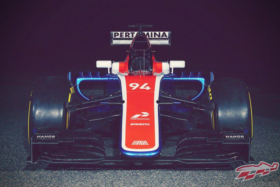 Manor Racing MT05 visión frontal