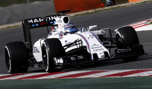 Valtteri Bottas ha completado 80 vueltas con el Williams el primer día