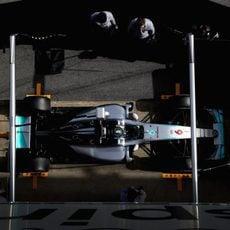 Parada en boxes de Nico Rosberg
