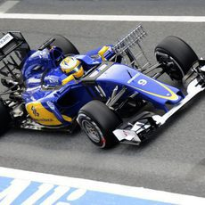 Test aerodinámicos en el Sauber